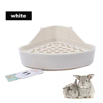 Mkouo Kaninchentoilette Hamster Toiletten Nagertoilette Ecktoilette, 24 x 19 x 10cm - 2