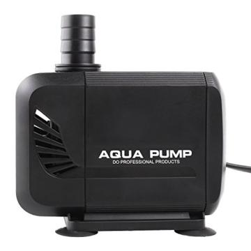 MVPOWER 3000L/H Wasserpumpe Tauchpumpe Amphibisch Teichpumpe Aquarienpumpe für Teich Brunnen Aquarium, mit Förderhöhe 2.8m und 3 Düse 19mm-22mm-25mm, Kabel 2.3m (40W) - 3