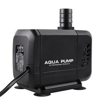 MVPOWER 3000L/H Wasserpumpe Tauchpumpe Amphibisch Teichpumpe Aquarienpumpe für Teich Brunnen Aquarium, mit Förderhöhe 2.8m und 3 Düse 19mm-22mm-25mm, Kabel 2.3m (40W) - 6