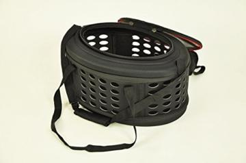 nanook Faltbare Transporttasche/Transportbox für Katze, Kaninchen und Kleine Hunde, 43 cm, Schwarz - 3