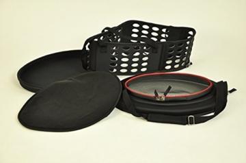 nanook Faltbare Transporttasche/Transportbox für Katze, Kaninchen und Kleine Hunde, 43 cm, Schwarz - 4