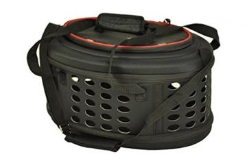 nanook Faltbare Transporttasche/Transportbox für Katze, Kaninchen und Kleine Hunde, 43 cm, Schwarz - 1