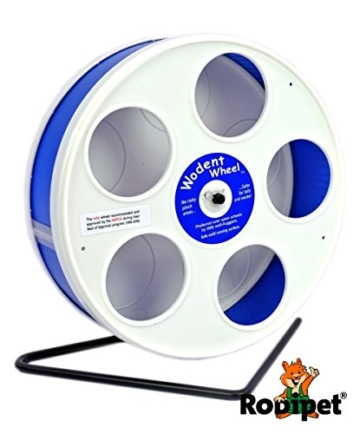 "Ø 20 cm Wodent Wheel™ JUNIOR – ""RoboWheel"" weiss/dunkelblau - 1"