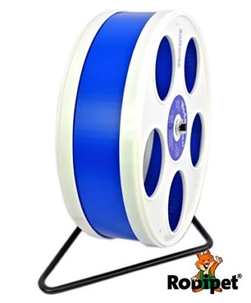 "Ø 20 cm Wodent Wheel™ JUNIOR – ""RoboWheel"" weiss/dunkelblau - 2"