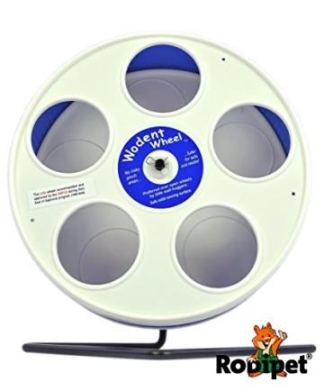 "Ø 20 cm Wodent Wheel™ JUNIOR – ""RoboWheel"" weiss/dunkelblau - 3"