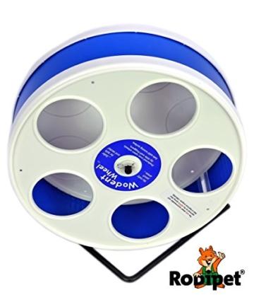 "Ø 20 cm Wodent Wheel™ JUNIOR – ""RoboWheel"" weiss/dunkelblau - 4"