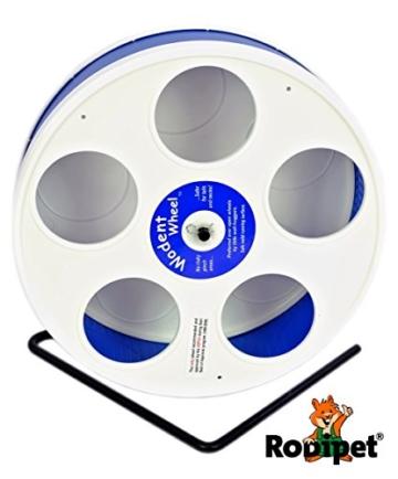 "Ø 20 cm Wodent Wheel™ JUNIOR – ""RoboWheel"" weiss/dunkelblau - 5"