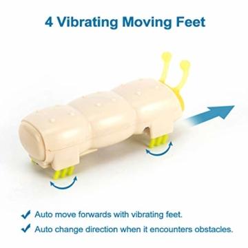 Opard KatzenSpielzeug Spielzeug Elektrische Spielzeugwurm LED Licht 4 vibrierende Fuß ABS-Material Interaktive Spielzeug(2 Stück) - 2