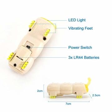 Opard KatzenSpielzeug Spielzeug Elektrische Spielzeugwurm LED Licht 4 vibrierende Fuß ABS-Material Interaktive Spielzeug(2 Stück) - 3
