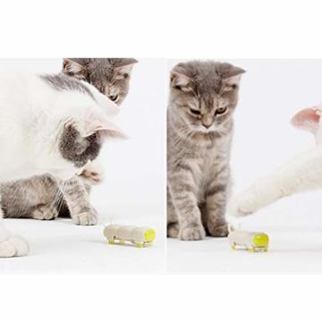 Opard KatzenSpielzeug Spielzeug Elektrische Spielzeugwurm LED Licht 4 vibrierende Fuß ABS-Material Interaktive Spielzeug(2 Stück) - 6