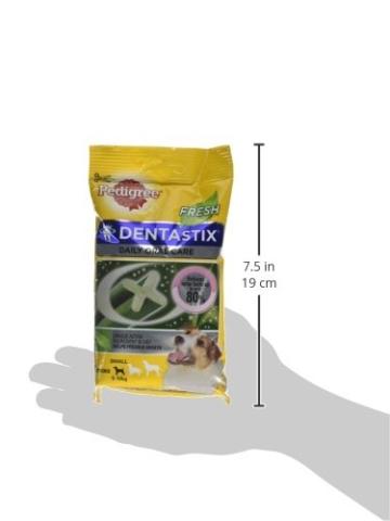 Pedigree Denta Stix Fresh Hundeleckerli für kleine Hunde, Kausnack gegen Zahnsteinbildung, Für gesunde Zähne und einen frischen Atem, 1er Pack (1 x 10 Pack) - 7