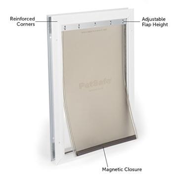 PetSafe Staywell Haustierklappe L, Aluminium Rahmen, 2 Verschlussoptionen, robust, 50,20 x 32,60 cm, große Hunde max. 45kg - 2