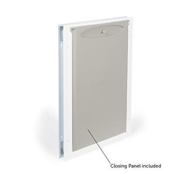 PetSafe Staywell Haustierklappe L, Aluminium Rahmen, 2 Verschlussoptionen, robust, 50,20 x 32,60 cm, große Hunde max. 45kg - 3