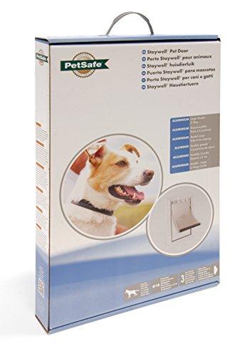 PetSafe Staywell Haustierklappe L, Aluminium Rahmen, 2 Verschlussoptionen, robust, 50,20 x 32,60 cm, große Hunde max. 45kg - 4