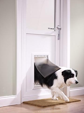 PetSafe Staywell Haustierklappe L, Aluminium Rahmen, 2 Verschlussoptionen, robust, 50,20 x 32,60 cm, große Hunde max. 45kg - 5