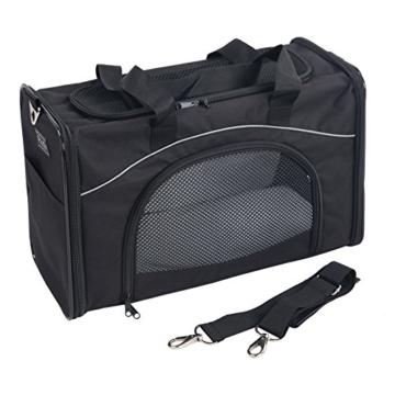 Petsfit Faltbare Transportboxfür Haustiere, Fluggesellschaft zugelassen, Schwarze Haustiertragetasche, Zwei Platzierung-Methode in Flugzeugen, 47cm x 24cm x 31cm - 5