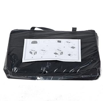 Petsfit Faltbare Transportboxfür Haustiere, Fluggesellschaft zugelassen, Schwarze Haustiertragetasche, Zwei Platzierung-Methode in Flugzeugen, 47cm x 24cm x 31cm - 8