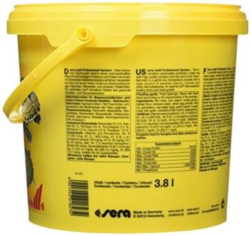 sera 01823 reptil Professional Carnivor 3,8 L(1000g) - Fleisch fressende Reptilien ernähren wie die Profis - 4