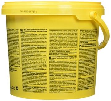 sera 01823 reptil Professional Carnivor 3,8 L(1000g) - Fleisch fressende Reptilien ernähren wie die Profis - 5
