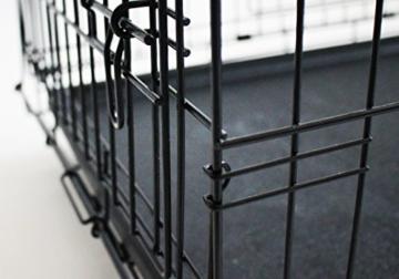 Simply Maison | Hundekäfig | Transportbox | Drahtkäfig mit 1 oder 2 Türen | Tragegriffen | Mit oder ohne Rollen | ( Größe S - M - L - XL mit Rollen verfügbar) | Folding Metall W/Tablett (2 Türen, XXL) - 3