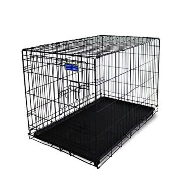 Simply Maison | Hundekäfig | Transportbox | Drahtkäfig mit 1 oder 2 Türen | Tragegriffen | Mit oder ohne Rollen | ( Größe S - M - L - XL mit Rollen verfügbar) | Folding Metall W/Tablett (2 Türen, XXL) - 1