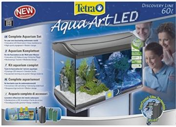 Tetra AquaArt Discovery Line LED Aquarium-Komplett-Set  60 Liter anthrazit (inklusive LED-Beleuchtung, Tag- und Nachtlichtschaltung, EasyCrystal Innenfilter und Aquarienheizer, ideal für Zierfische) - 2