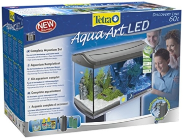 Tetra AquaArt Discovery Line LED Aquarium-Komplett-Set 60 Liter anthrazit (inklusive LED-Beleuchtung, Tag- und Nachtlichtschaltung, EasyCrystal Innenfilter und Aquarienheizer, ideal für Zierfische) - 3