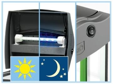Tetra AquaArt Discovery Line LED Aquarium-Komplett-Set  60 Liter anthrazit (inklusive LED-Beleuchtung, Tag- und Nachtlichtschaltung, EasyCrystal Innenfilter und Aquarienheizer, ideal für Zierfische) - 6