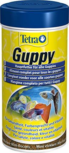 Tetra Guppy (Hauptfutter für Guppys und andere lebendgebärende Zahnkarpfen, Miniflocken mit Farberstärkern), 250 ml Dose - 3