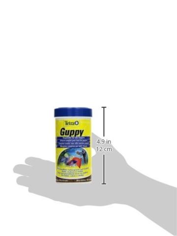 Tetra Guppy (Hauptfutter für Guppys und andere lebendgebärende Zahnkarpfen, Miniflocken mit Farberstärkern), 250 ml Dose - 5