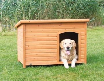 Trixie 39553 natura Flachdach-Hundehütte, L: 116 × 82 × 79 cm - 2
