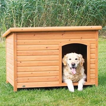 Trixie 39553 natura Flachdach-Hundehütte, L: 116 × 82 × 79 cm - 3