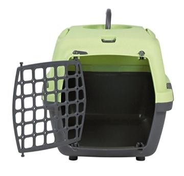 Trixie Transportbox Capri 1, XS: 32 × 31 × 48 cm, dunkelgrün/hellgrün - 2