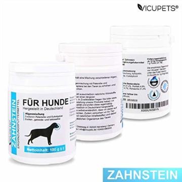 Vicupets® Zahnstein 100g Pulver für Hunde | Natürliche Zahnpflege I Reinigung für Zähne & Zahnfleisch I Ergänzungsfuttermittel - 2