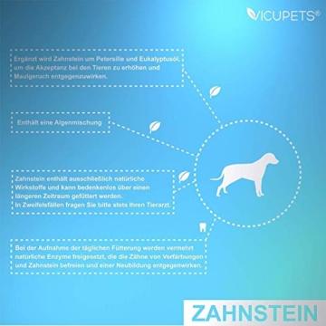 Vicupets® Zahnstein 100g Pulver für Hunde | Natürliche Zahnpflege I Reinigung für Zähne & Zahnfleisch I Ergänzungsfuttermittel - 4