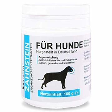 Vicupets® Zahnstein 100g Pulver für Hunde | Natürliche Zahnpflege I Reinigung für Zähne & Zahnfleisch I Ergänzungsfuttermittel - 1