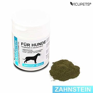 Vicupets® Zahnstein 100g Pulver für Hunde | Natürliche Zahnpflege I Reinigung für Zähne & Zahnfleisch I Ergänzungsfuttermittel - 5
