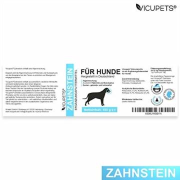 Vicupets® Zahnstein 100g Pulver für Hunde | Natürliche Zahnpflege I Reinigung für Zähne & Zahnfleisch I Ergänzungsfuttermittel - 6