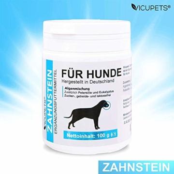 Vicupets® Zahnstein 100g Pulver für Hunde | Natürliche Zahnpflege I Reinigung für Zähne & Zahnfleisch I Ergänzungsfuttermittel - 8