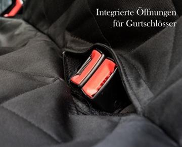 VIIRKUJA Hundedecke Auto | Wasserabweisend, Waschbar, Rutschfest und in universal Größe | Rückbank oder Kofferraum | Für große und Kleine Hunde auf Dem Autositz | Autoschondecke - 6