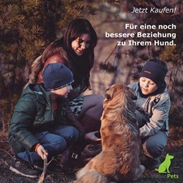 Villkin 2X Hundepfeife +Bonus: Hunde-clicker, Schlüsselband und E-Book - Kontrolle erlangen und Bellen stoppen - Schwarz/Silber mit Einstellbarer Frequenz - 7