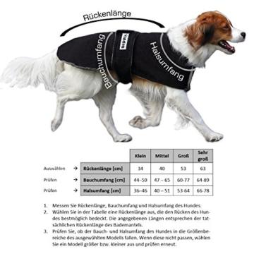 vindra Hundebademantel Fleece - Hundemantel - 4 Größen - Hals und Brust verstellbar (Groß) - 3