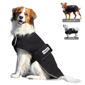 vindra Hundebademantel Fleece - Hundemantel - 4 Größen - Hals und Brust verstellbar (Groß) - 1