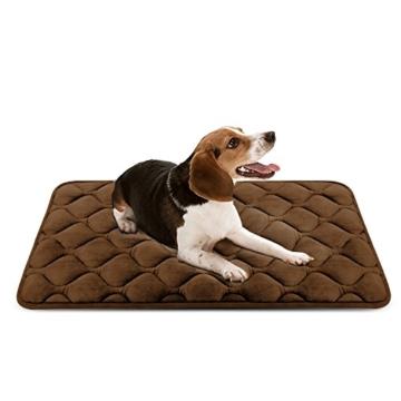Weiche Hundebett Luxuriöse Hundedecken Waschbar Orthopädisches Hundekissen Rutschfeste Hundematte Braun Mittelgroße von HeroDog - 1