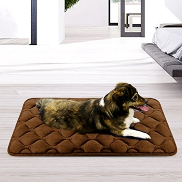 Weiche Hundebett Luxuriöse Hundedecken Waschbar Orthopädisches Hundekissen Rutschfeste Hundematte Braun Mittelgroße von HeroDog - 9