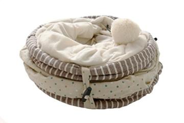 MAKRONE Katzentunnel Rascheltunnel aus Baumwolle für Katzen, Katzen-Spielzeug hochwertig - 2