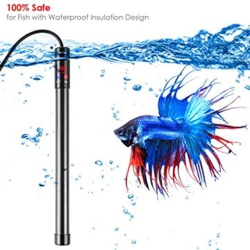 MVPOWER Aquarium Heizer Regelheizer 300W Heizstab mit LED-Anzeige für Süß- und Meerwasser Aquarien - 5