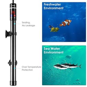 MVPOWER Aquarium Heizer Regelheizer 300W Heizstab mit LED-Anzeige für Süß- und Meerwasser Aquarien - 7