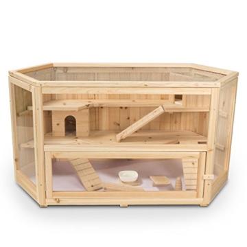 Kleintierstall Meerschweinchenstall FANNY aus Holz, 115x60x58 cm, Hamsterkäfig, Nagerkäfig - 2