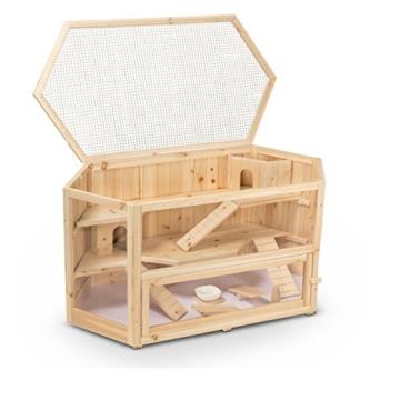 Kleintierstall Meerschweinchenstall FANNY aus Holz, 115x60x58 cm, Hamsterkäfig, Nagerkäfig - 3